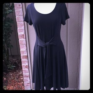 Torrid Black Jersey dress with cute tie front 0